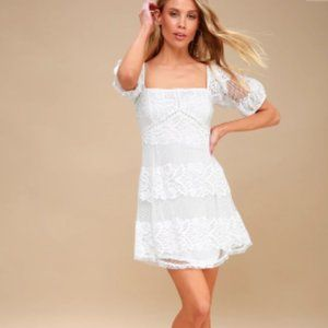 Free People Be Your Baby White Lace Babydoll Dress